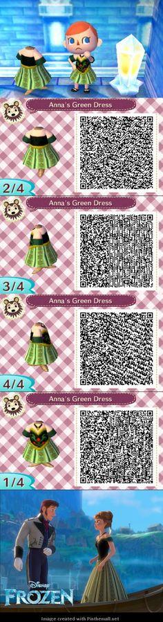 Disney's Frozen cosplay Anna's green dress QR code