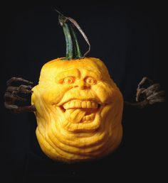 Slimer Pumpkin by Arlen Pelletier on ArtStation. Halloween Jack, Halloween Pumpkins, Halloween Decorations, Halloween Ideas, Pumpkin Art, Pumpkin Ideas, Pumpkin Painting, Painted Pumpkins, Carved Pumpkins