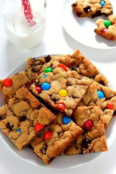 Double Chocolate M&M Cookie Bars Recipe