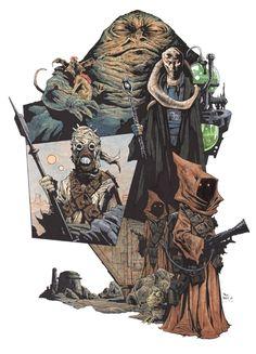 Star Wars - Tatooine by Paul Davidson