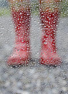 """Rainy"" by Cool McFlash on 500px I Love Rain, No Rain, Walking In The Rain, Singing In The Rain, Red Rain Boots, Red Wellies, Rain Go Away, Rain Days, Going To Rain"