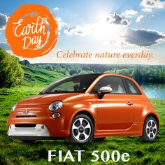 HAPPY EARTH DAY! Do your part with the all-new 2016 Fiat 500e. 100% electric with zero emissions and YOU'LL be the star! #GoGreen #SaveThePlanet