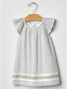 baby girl Dot flutter dress -- perfect for sundays