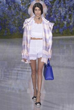 Dior RTW Spring 2016. Yes I do need a lilac-and-vanilla striped silk bomber.