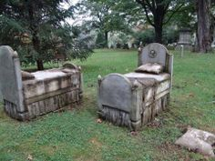 """Bed stones"", Forest Hills Cemetery, Jamaica Plains, Boston"
