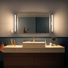 Philips Hue White Ambiance Adore LED-Wandleuchte 1050lm chrom, Dimmschalter - Wandleuchten - Leuchten - LEDs.de Philips Hue, Bathroom Lighting, Modern, Vanity, Mirror, Furniture, Design, Home Decor, Products
