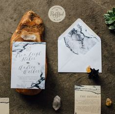ERIN SUITE // Marble Wedding Invitation, Watercolor Neutral Design, Modern…