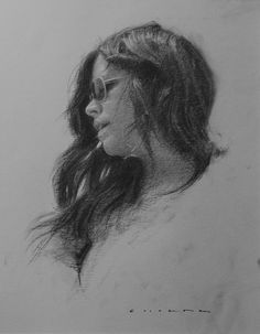 Whisper - Charcoal Portrait Drawings by Casey Childs Fine Art Drawing, Drawing Artist, Sketch Painting, Learn Drawing, Portrait Sketches, Portrait Art, Potrait Painting, Volume Art, Charcoal Portraits