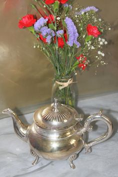 Silver Plated Teapot in the English Traditional Style. c1930s. Beautiful Silverware by AtticBazaar on Etsy