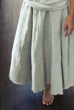 Jurgen Lehl _ 2011.12.09 Friday  Hand Embroidered Skirt  ~1000          Photo by Isao Hashinoki