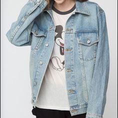 BM Jean Jacket Never worn. Not oversized! Brandy Melville Jackets & Coats Jean Jackets