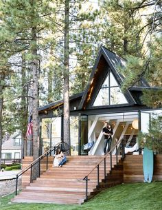 Stunning A-Frame | Those stairs!