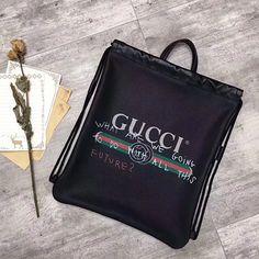 c2fbcaa9099d Gucci Coco Capitan Logo Backpack Black 494053 Black Backpack, Leather  Handle, Gucci Bags,