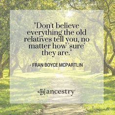 It's best to research before buying into #familyhistory #folklore. #familytree…