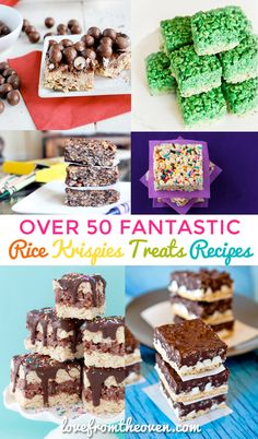Looking for Rice Krispies Treats Recipes? Check out this collection of over 50 recipes for Rice Krispies Treats.