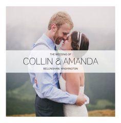 Mixbook Modern Wedding Wedding Photo Books