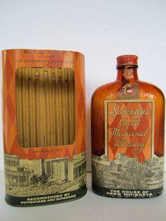 Antique 1929 Prohibition Schenley WHISKEY Prescription Bottle Pharmacy Bar Graphics Advertising Labels Medicine Ohio PA Distillery. $475.00, via Etsy.