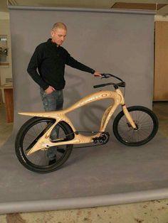 A working wooden bike