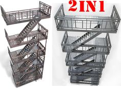 fire escape emergency Stair | 3D model
