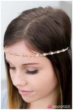 Paparazzi Accessories: Written In The Stars - Gold Paparazzi Accessories, Paparazzi Jewelry, Jewelry Accessories, Fashion Accessories, Hippie Headbands, Affordable Fashion, Gold Chains, Gold Jewelry, Bling