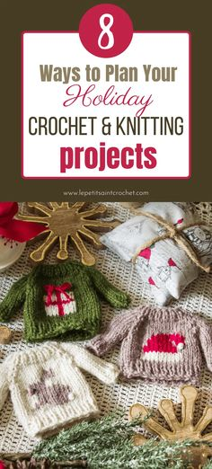 8 Easy Ways to Plan Your Holiday Crochet & Knitting Projects • Le Petit Saint Crochet Halloween Ornaments, Holiday Ornaments, Holiday Gifts, Christmas Wreaths, Music Ornaments, Holiday Planner, Holiday Crochet, Different Holidays, Knitting Projects