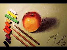 Видео мастер-класс: рисуем яблоко пастелью - Ярмарка Мастеров - ручная работа, handmade