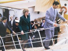 12 February 1987 Prince Charles and Diana, Princess of Wales visit Lisbon during their visit to Portugal