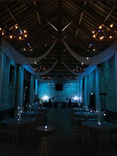 The Granary Barn  Draping by #ElizabethHallEventDesign #sequintablecloths #magical #winterwedding