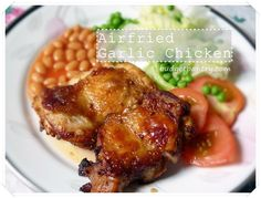 Airfried Garlic Chicken Chop with Worcestershire Sauce