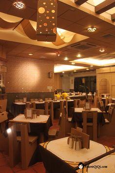 Carton king in taiwan,#ristorante,#interni interamente in cartone.