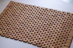 Baderomsmatte 52x90 Woodblock, Teak