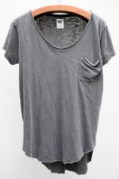 The Perfect Tee - Black Sura V Neck by NSF $88 - Available now at Heist