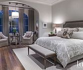Transitional Gray Master Bedroom | Transitional | LUXE Source
