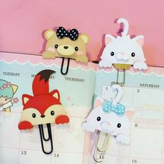 Cute peek-a-boo Planner paper clips by MissKittysKreation #plannerpaperclip