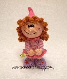 Fairy Rosinchen amigurumi PDF crochet pattern by Nowacrochet