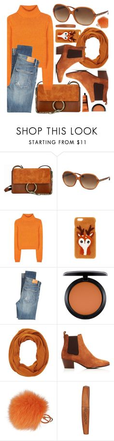"""""""Fox"""" by smartbuyglasses ❤ liked on Polyvore featuring Chloé, Acne Studios, Citizens of Humanity, MAC Cosmetics, Charlotte Russe, Sam Edelman, Furla, Rimmel, Aesop and orange"""