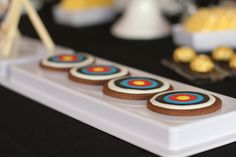 Cookies at a Archery Party #archery #partycookies