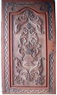Wooden Doors: Wooden Carving Main Doors - Original Home Designs Home Design, Door Design Interior, Unique House Design, Single Door Design, Wooden Main Door Design, Double Door Design, Custom Wood Doors, Wooden Front Doors, Wood Carving Designs