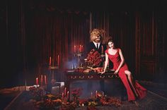 """Holiday Stunners – Leading models Catherine McNeil and Jac Jagaciak star in the Holiday 2013 catalogue from Neiman Marcus titled, """"The Heart of Giving"""". The duo wears enchanting dresses and gowns in the ultra-glam images shot by Kristian Schuller and Jeff Stephens. Posing amongst child ballerinas, toy horses and star-shaped lights; Catherine and Jac certainly know how to get into the holiday spirit!"""