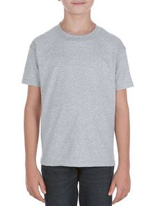 Athletic Heather (90% Cotton + 10% Polyester)- 3981 Alstyle Heavyweight Youth Tee | T-shirt.ca