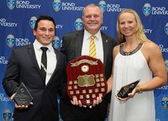 Bond University held its annual Blues Awards dinner last night, with Olympic swimming champion Melanie Wright (nee Schlanger) named sportswoman of the year. She was joined by Sportsman of the Year - Lucas Helmke - who is the current under 74kg Australian powerlifting champion.
