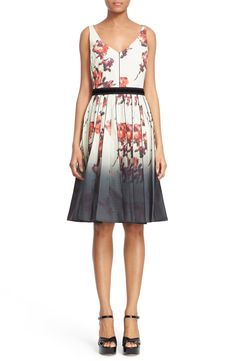 MARC JACOBS Floral Print Pleated Stretch Cotton Dress available at #Nordstrom