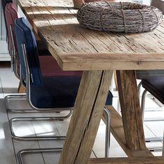 Oud eiken tafel 'Texel'