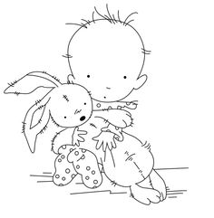 Boy holding rabbit Transparent Clear Stamps for Scrapbooking for DIY Card M. Scrapbooking Photo, Diy Scrapbook, Hand Embroidery Patterns, Machine Embroidery Designs, Ribbon Embroidery, Colouring Pages, Coloring Books, Gravure Laser, Tampons Transparents