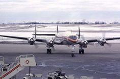 Trans Canada Airlines Lockheed Super Constellation, Malton Airport in Toronto in 1961