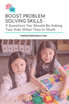 Knowing what to say when our kids are going through a difficult moment can be tough, especially when the child needs to boost their problem solving skills. How do you show support but not fix the problem for them, so they build the emotional resilience and problem solving skills they need to deal with setbacks life hands us all?Asking these five problem solving questions helps parents respond instead of reacting and builds kids ability to look for their own solutions and not blame others.