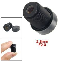 "Gino 1/3"" CCTV 2.8mm Lens Black for CCD Security Box Camera by Gino. $6.40. Super-Wide Angle Lens: The 2.8 mm Board Lens provides an extra-wide field of view, which is ideally suited for most installations. A 6mm lens will bring you closer to the action than a wide angle lens, and when used with an IR Camera, it will not cause glare from the IR light, as a wide angle lens will. All IR Camera manufacturers recommend using a 2.8mm Standard Board Lens or higher for use wi..."