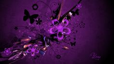 Image detail for -Purple flowers by *PinguGraphics on deviantART