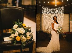Kolo Klub Wedding is an unique modern venue in Hoboken NJ. I love the warehouse feel of this venue. and love the brides white and yellow bouquet. #uniquenjvenues #yellowwhitebouquet