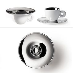 """Anish Kapoor (sculptor of the Chicago """"Bean"""") takes on the espresso cup for Illy. One on auction at @paddle8."""